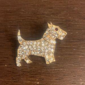 Bull Terrier Vintage Rhinestone Brooch
